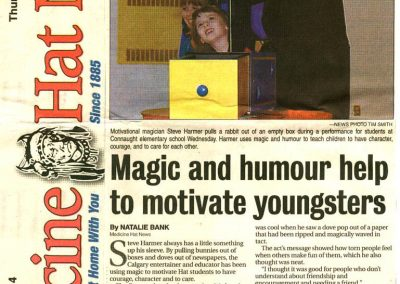 Magic and humour help to motivate youngsters