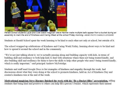 Kids get kind at Herald School this week!
